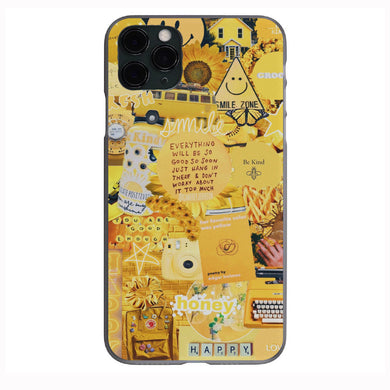 Vsco yellow collage Apple Iphone Samsung Phone Shockproof Case Cover