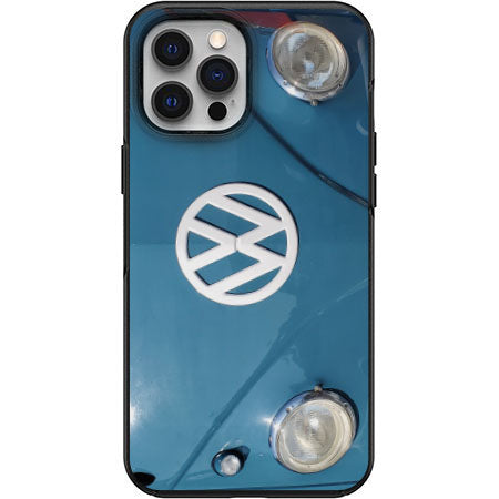 Horizon Blue VW VDUB Bus Nose View Apple Iphone Samsung Phone Shockproof Case Cover