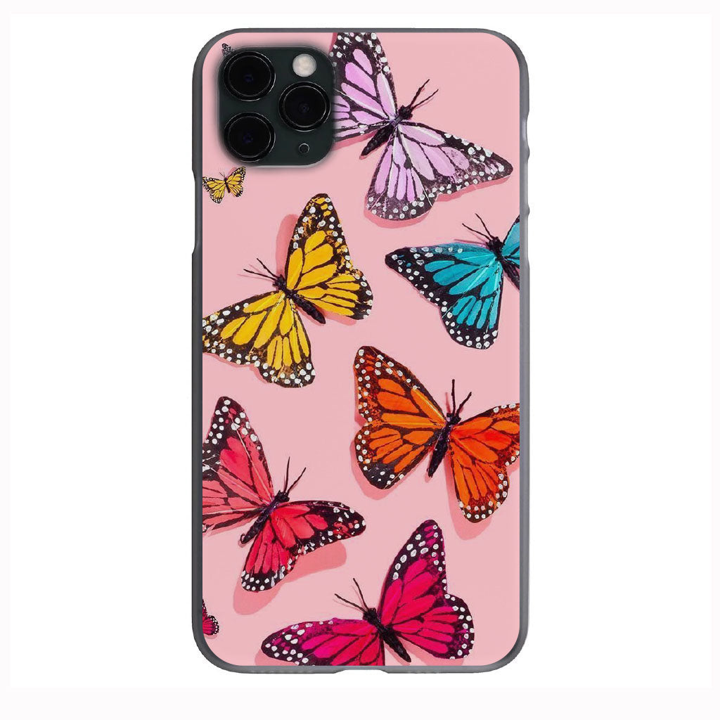 Water Color Butterflies Apple Iphone Samsung Phone Shockproof Case Cover
