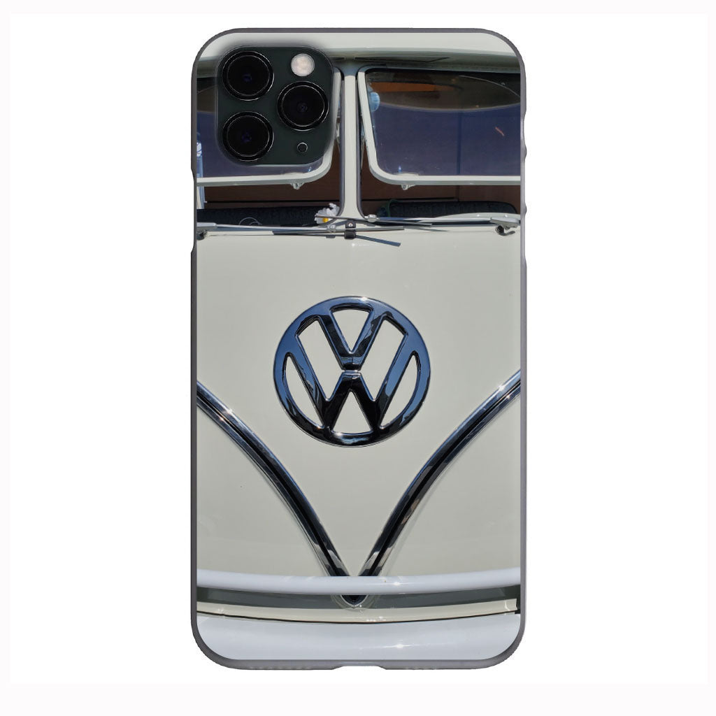 L87 Pearl White Vdub Bus Front View Apple Iphone Samsung Phone Shockproof Case Cover