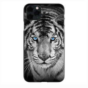 Blue Eyed White Tiger print Apple Iphone Samsung Phone Shockproof Case Cover