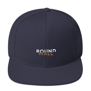 Roundwall snapback hat onsdagscruiser embroidery navy