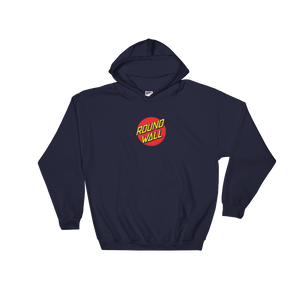 Roundwall old school skateboard hooded sweatshirt onsdagscruiser dot, hættetrøje