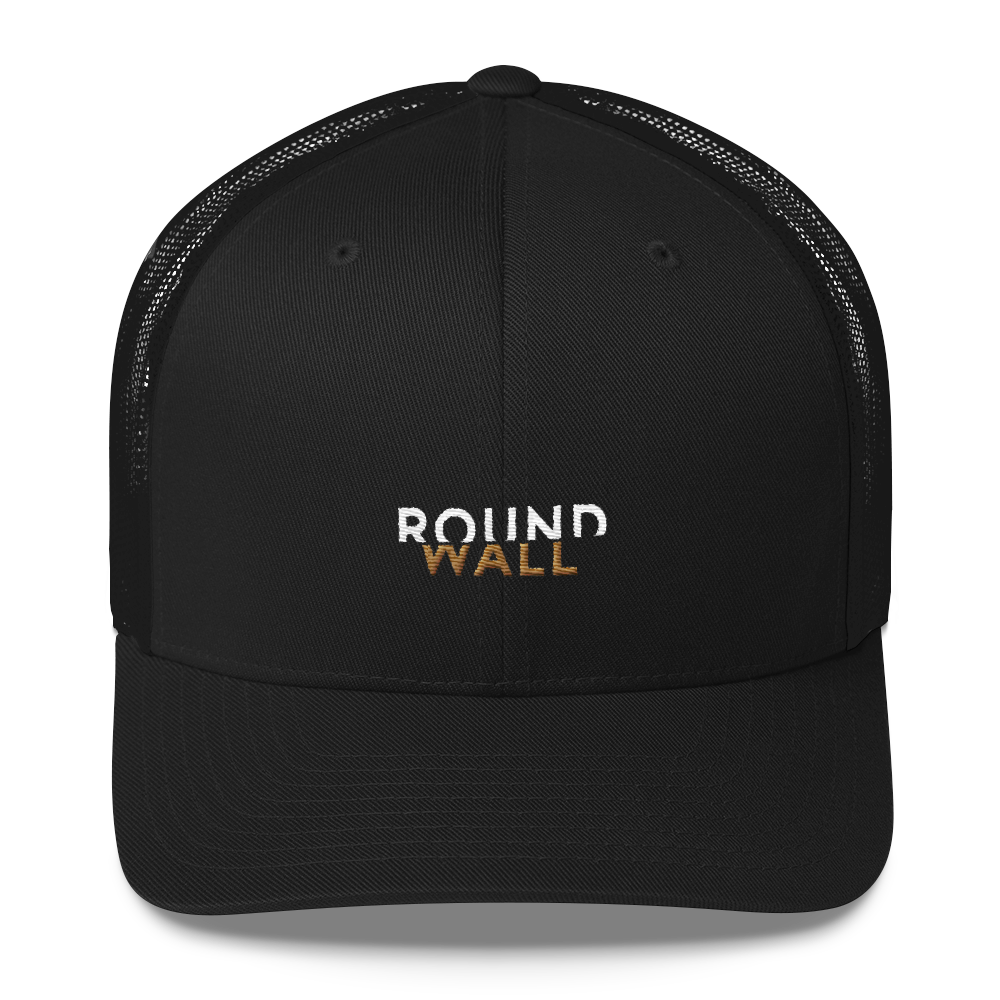 Roundwall trucker hat onsdagscruiser embroidery black
