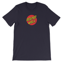 Roundwall old school skateboard t-shirt onsdagscruiser dot navy