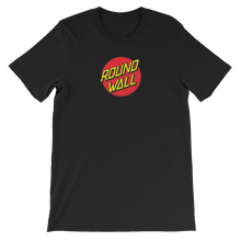 Roundwall old school skateboard t-shirt onsdagscruiser dot black