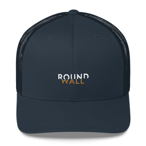 Roundwall trucker hat onsdagscruiser embroidery navy