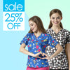 Printed Scrub Tops