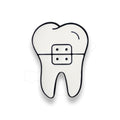 Tooth With Brace Pin