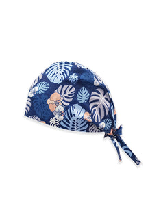 Blue Leafs Printed Surgical Hat