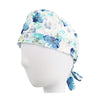 Blue Floral Surgical Hat