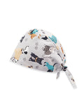 Dogs Paw Printed Surgical Hat