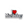 I Love Microbiology Pin