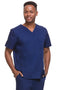 James Men's V-Neck Solid Scrub Top