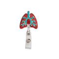 Lungs Crystal ID Badge