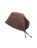 Brown Dotted Printed Surgical Hat