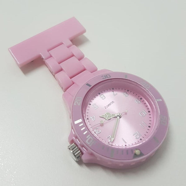 Nurse Quartz Fob Watch - Light Pink