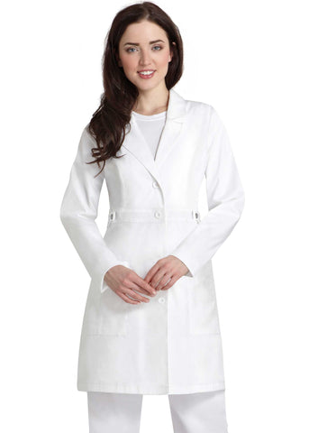 "Adar Pop-Stretch Junior Fit Women's 36"" Tab-Waist Lab Coat 3304"