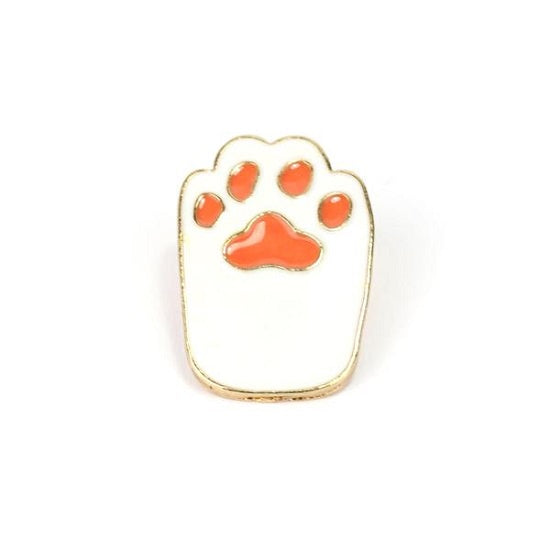 White Footprint Pin
