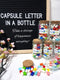 Capsule Letter in Bottle