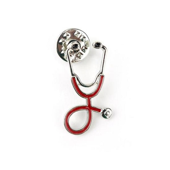 Stethoscope Pin Red