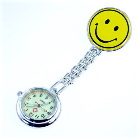 Nurse Smiley Fob Watch - Yellow
