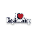 I Love Engineering Pin