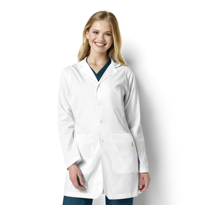 Bristol Stylized Collar Lab Coat 7019