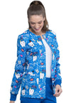 In Bring The Sparkle Printed Snap Front Warm-Up Jacket - CK301