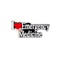 I Love Emergency Medicine Pin