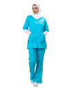 FCHS Mock Wrap Top & Flare Leg Pants Set (UAE6402/5402)