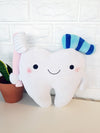Tooth Bolster Cushion Doll Blue