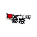 I Love Respiratory Therapy Pin