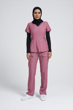 Women's Modern V-Neck Scrub Set P7002-P4100