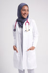 "Adar Universal 36"" Women's Slim-Fit Lab Coat 804"