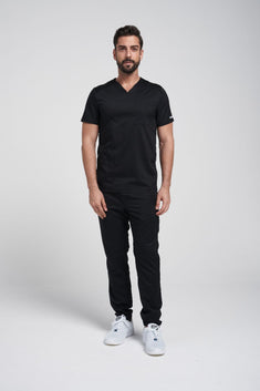 Men's V neck Top & Jogger Pant Scrub Set WW603-WW012