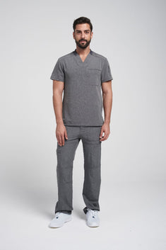 Dynamix Men's V-Neck Top & Fly Cargo Pant Scrub Set