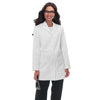 VICTORIA Classic lab coat with colorful facing at back of neck