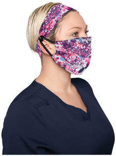 Fashion Mask + Headband Set - Splatter Floral
