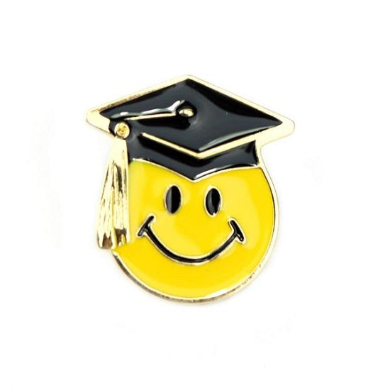 Smiley Graduation Pin