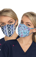 Reversible Face Mask Pack of 2 - Bright Butterflies/Hippie Snake