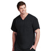 Men's Paneled V-Neck Solid Scrub Top 0116