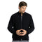 Men's Zip Front Bomber Solid Jacket 0405