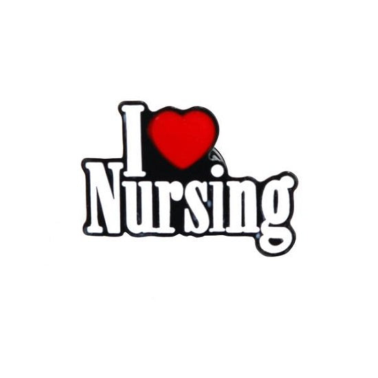 I Love Nursing Pin