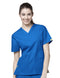 Bravo -5 Pocket V-Neck Top 6016 - Blue Family