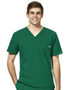 Men's V-Neck Solid Scrub Top 6355