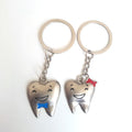 TOOTH COUPLE KEY RING