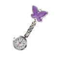Nurse Butterfly Fob Watch - Purple