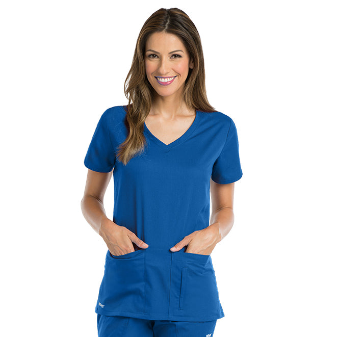 Greys Anatomy Women's Side Panel V-Neck Top 41423
