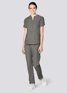 Polished Melange Tailored Scrub Set